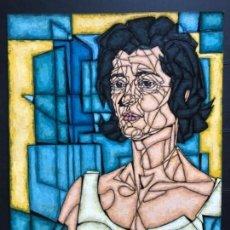 Arte: ENRIQUE BENLLIURE ALVAREZ (MADRID,1919-2005) TÉCNICA MIXTA. SOBRE CARTULINA DEL AÑO 1966 . RETRATO. Lote 155266334