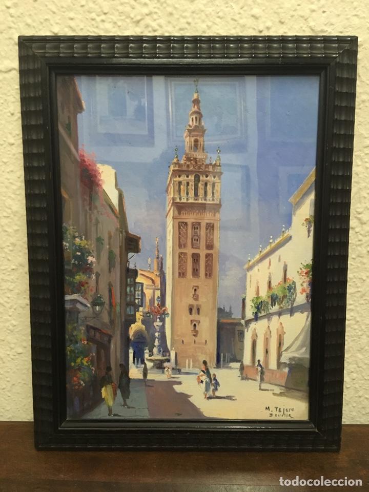 Art: Lote de tres pinturas al óleo por Manuel Tejero ( S XIX-XX ) de Sevilla - Foto 3 - 155269920