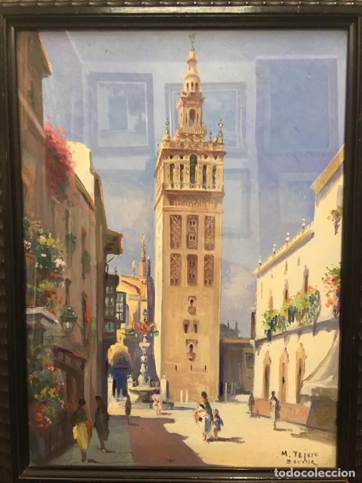 Art: Lote de tres pinturas al óleo por Manuel Tejero ( S XIX-XX ) de Sevilla - Foto 4 - 155269920