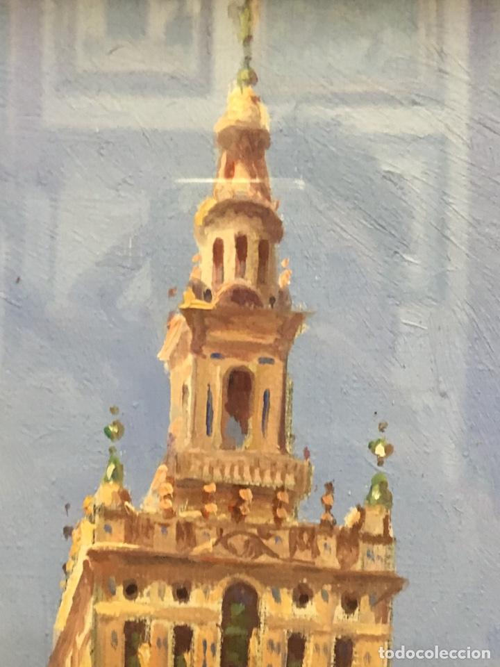 Art: Lote de tres pinturas al óleo por Manuel Tejero ( S XIX-XX ) de Sevilla - Foto 5 - 155269920