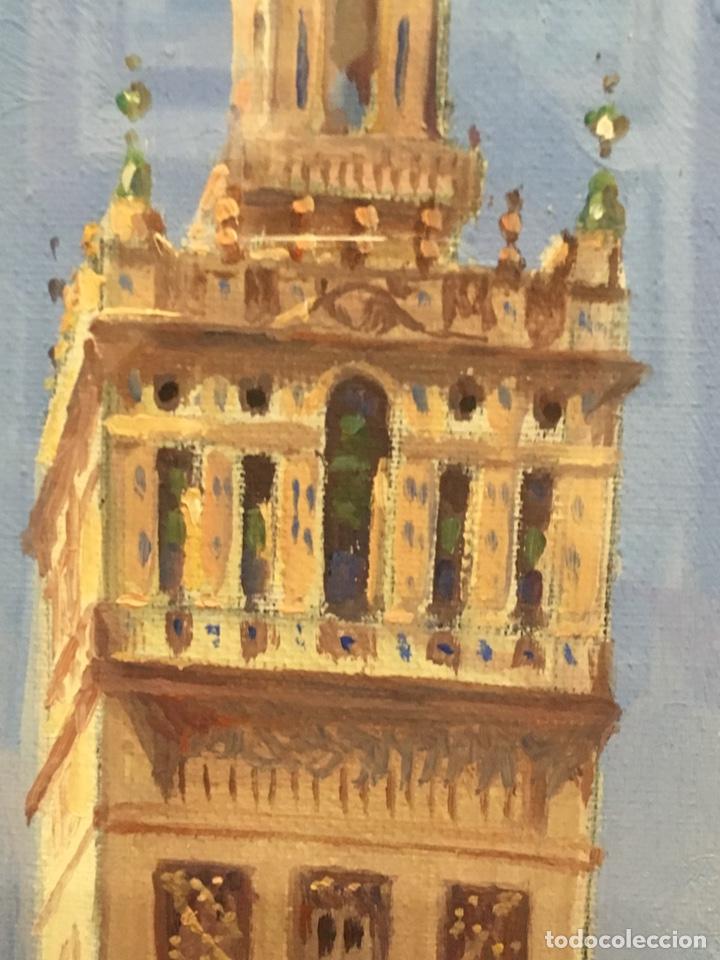 Art: Lote de tres pinturas al óleo por Manuel Tejero ( S XIX-XX ) de Sevilla - Foto 6 - 155269920
