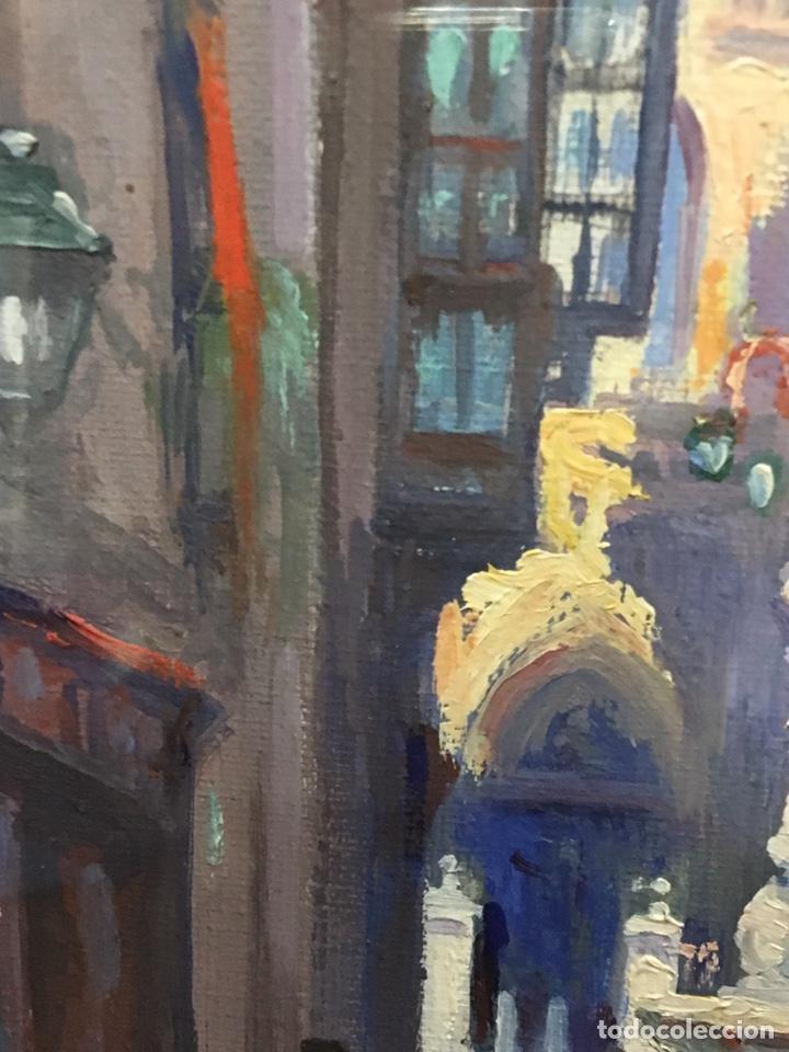 Art: Lote de tres pinturas al óleo por Manuel Tejero ( S XIX-XX ) de Sevilla - Foto 7 - 155269920