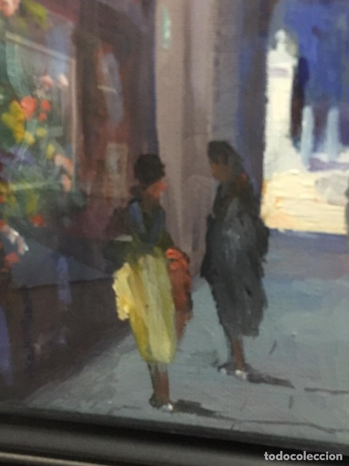 Art: Lote de tres pinturas al óleo por Manuel Tejero ( S XIX-XX ) de Sevilla - Foto 9 - 155269920