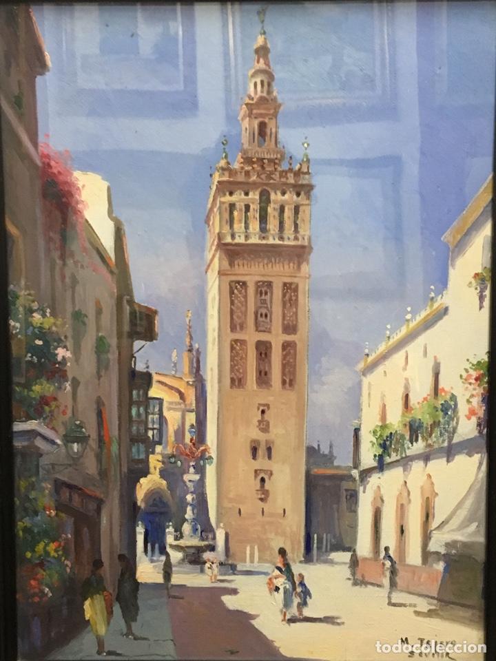 Art: Lote de tres pinturas al óleo por Manuel Tejero ( S XIX-XX ) de Sevilla - Foto 12 - 155269920