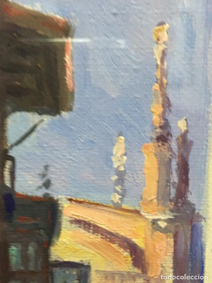 Art: Lote de tres pinturas al óleo por Manuel Tejero ( S XIX-XX ) de Sevilla - Foto 14 - 155269920