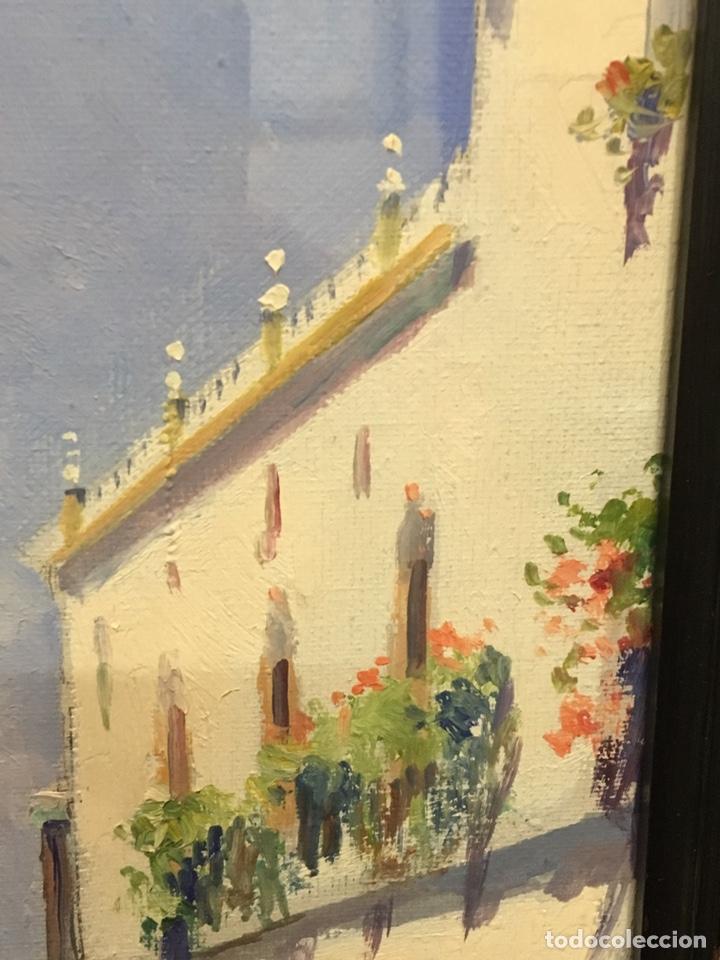 Art: Lote de tres pinturas al óleo por Manuel Tejero ( S XIX-XX ) de Sevilla - Foto 16 - 155269920