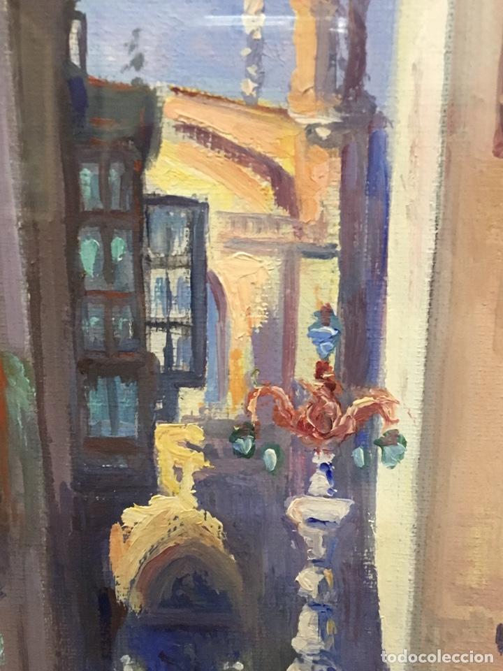 Art: Lote de tres pinturas al óleo por Manuel Tejero ( S XIX-XX ) de Sevilla - Foto 17 - 155269920