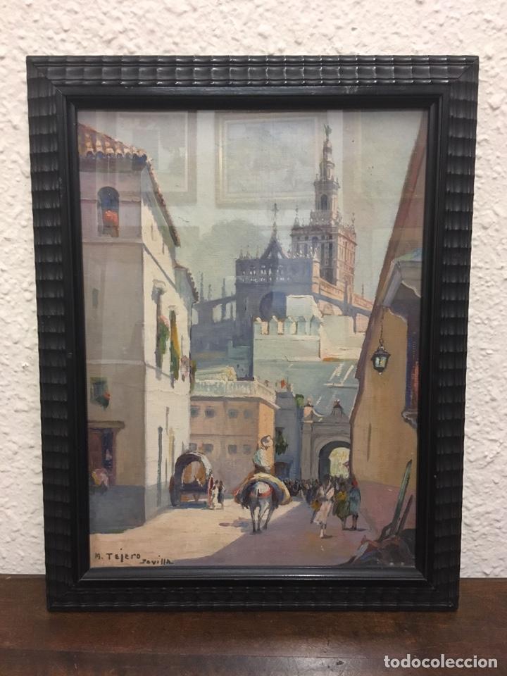 Art: Lote de tres pinturas al óleo por Manuel Tejero ( S XIX-XX ) de Sevilla - Foto 29 - 155269920