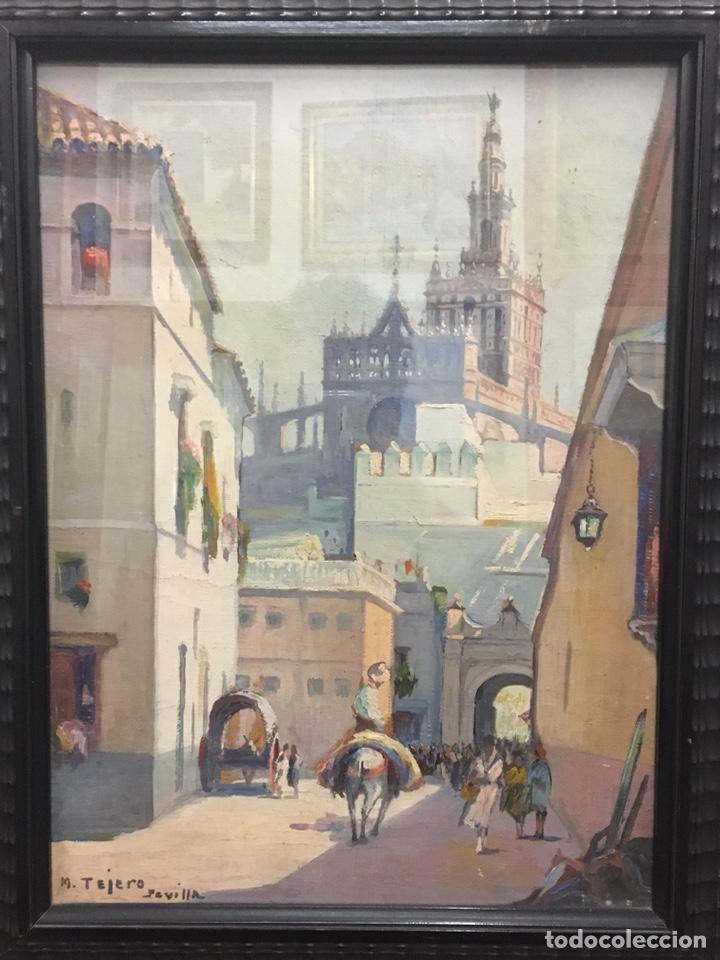 Art: Lote de tres pinturas al óleo por Manuel Tejero ( S XIX-XX ) de Sevilla - Foto 30 - 155269920