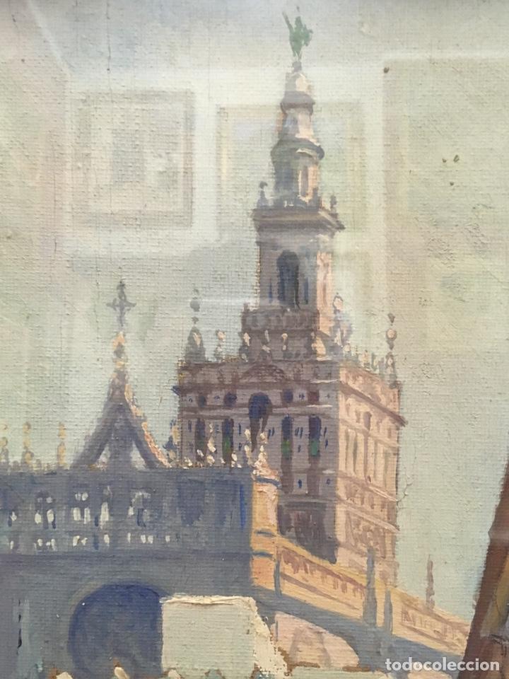 Art: Lote de tres pinturas al óleo por Manuel Tejero ( S XIX-XX ) de Sevilla - Foto 31 - 155269920