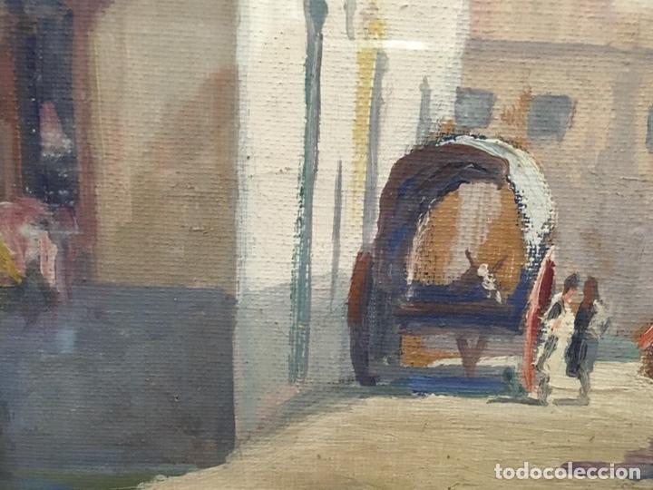 Art: Lote de tres pinturas al óleo por Manuel Tejero ( S XIX-XX ) de Sevilla - Foto 36 - 155269920