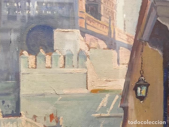 Art: Lote de tres pinturas al óleo por Manuel Tejero ( S XIX-XX ) de Sevilla - Foto 38 - 155269920