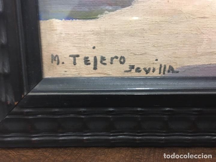 Art: Lote de tres pinturas al óleo por Manuel Tejero ( S XIX-XX ) de Sevilla - Foto 40 - 155269920