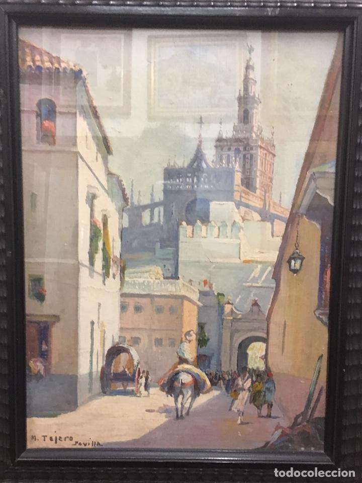 Art: Lote de tres pinturas al óleo por Manuel Tejero ( S XIX-XX ) de Sevilla - Foto 42 - 155269920