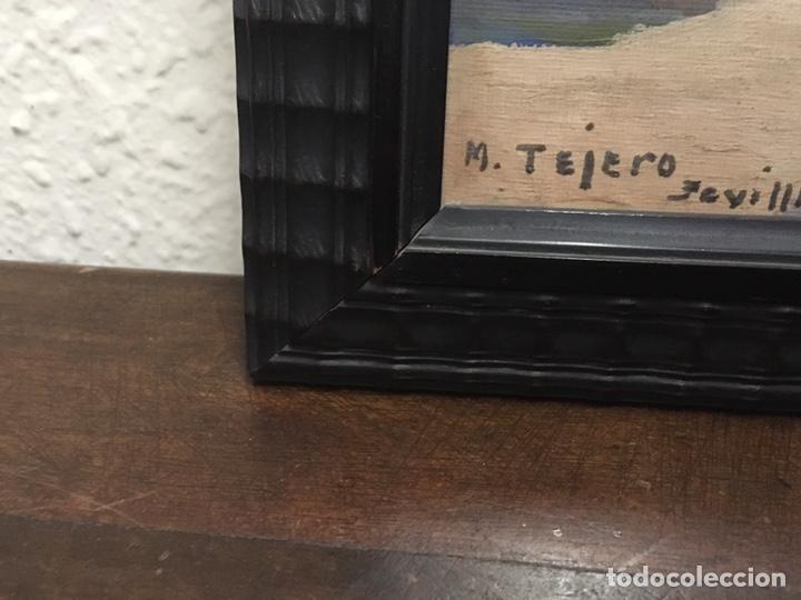 Art: Lote de tres pinturas al óleo por Manuel Tejero ( S XIX-XX ) de Sevilla - Foto 46 - 155269920