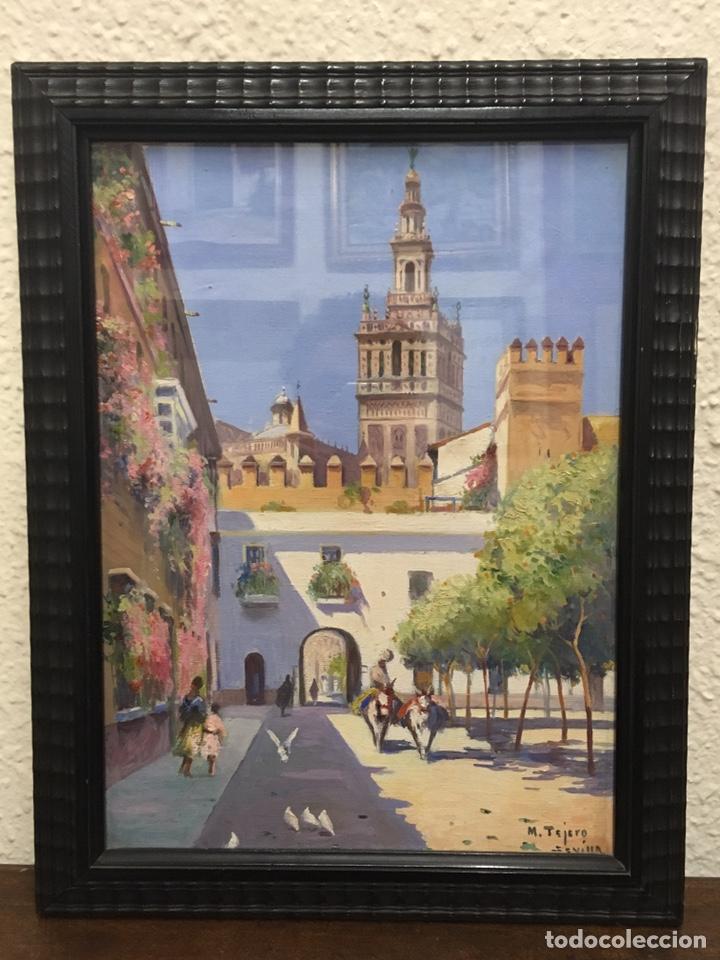 Art: Lote de tres pinturas al óleo por Manuel Tejero ( S XIX-XX ) de Sevilla - Foto 50 - 155269920