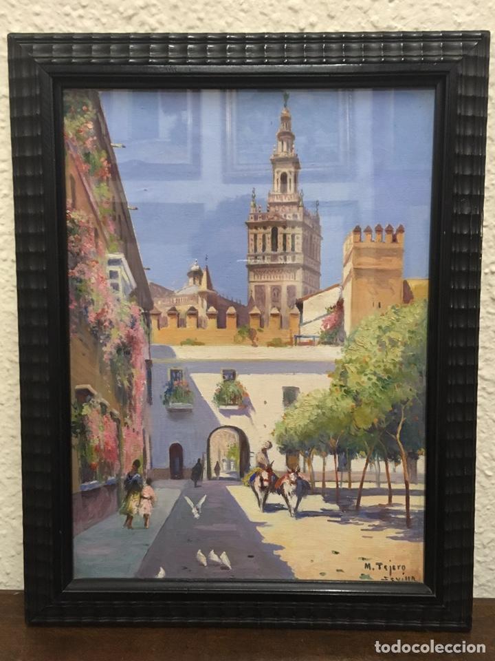 Art: Lote de tres pinturas al óleo por Manuel Tejero ( S XIX-XX ) de Sevilla - Foto 51 - 155269920