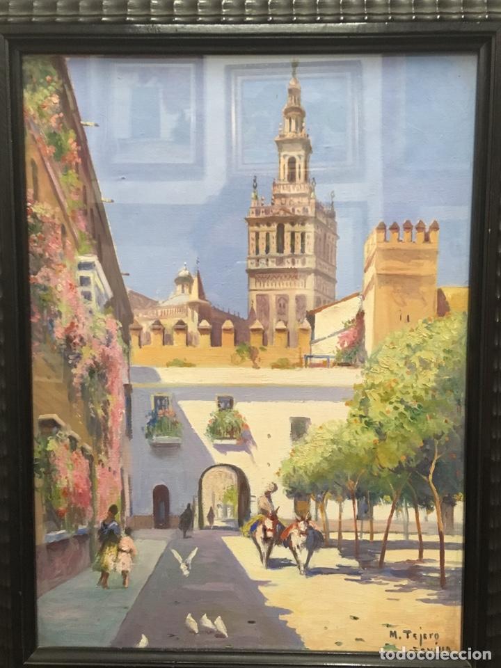 Art: Lote de tres pinturas al óleo por Manuel Tejero ( S XIX-XX ) de Sevilla - Foto 52 - 155269920