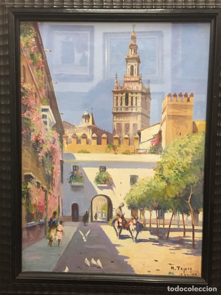 Art: Lote de tres pinturas al óleo por Manuel Tejero ( S XIX-XX ) de Sevilla - Foto 53 - 155269920
