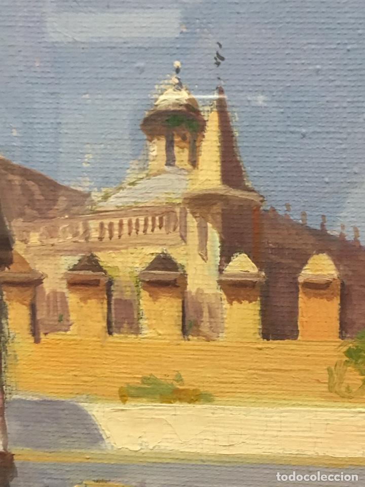 Art: Lote de tres pinturas al óleo por Manuel Tejero ( S XIX-XX ) de Sevilla - Foto 59 - 155269920