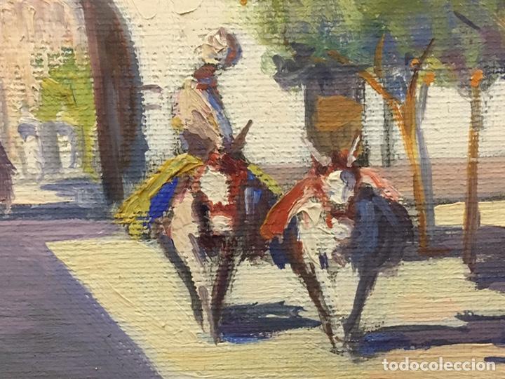 Art: Lote de tres pinturas al óleo por Manuel Tejero ( S XIX-XX ) de Sevilla - Foto 63 - 155269920