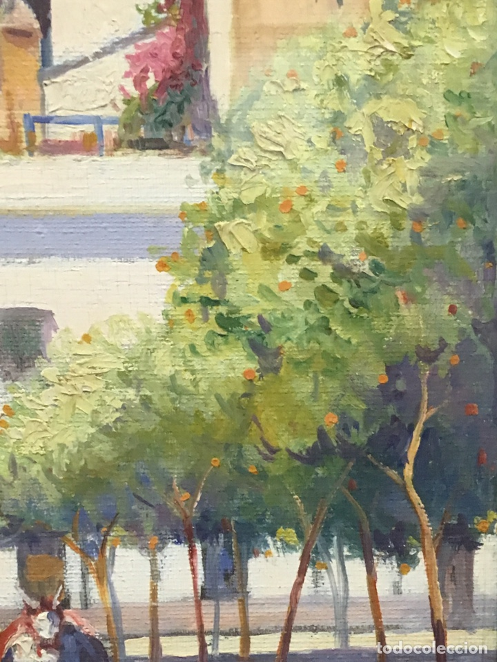 Art: Lote de tres pinturas al óleo por Manuel Tejero ( S XIX-XX ) de Sevilla - Foto 64 - 155269920