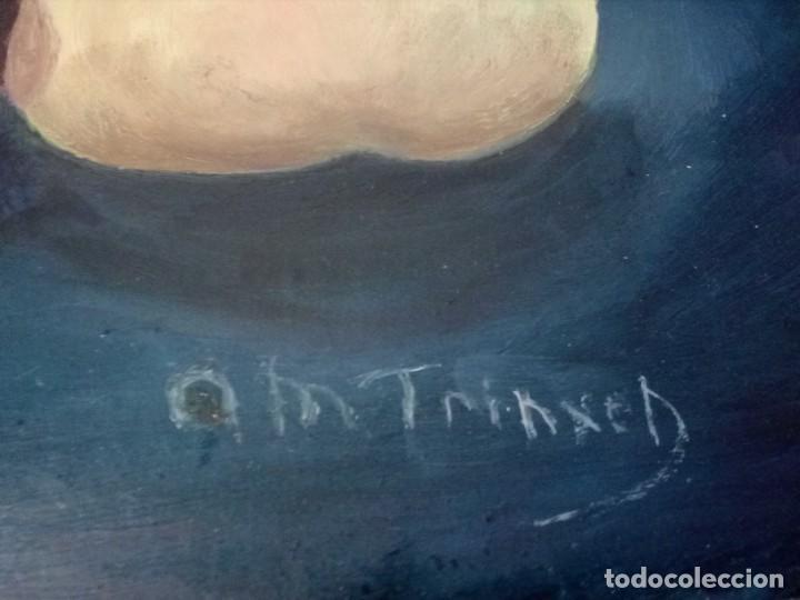 Arte: ÓLEO SOBRE LIENZO - DOS MANZANAS Y UN COCO - (FIRMADO ANA MARÍA TRINXET) 50x35 CENTÍMETROS - Foto 4 - 155305050