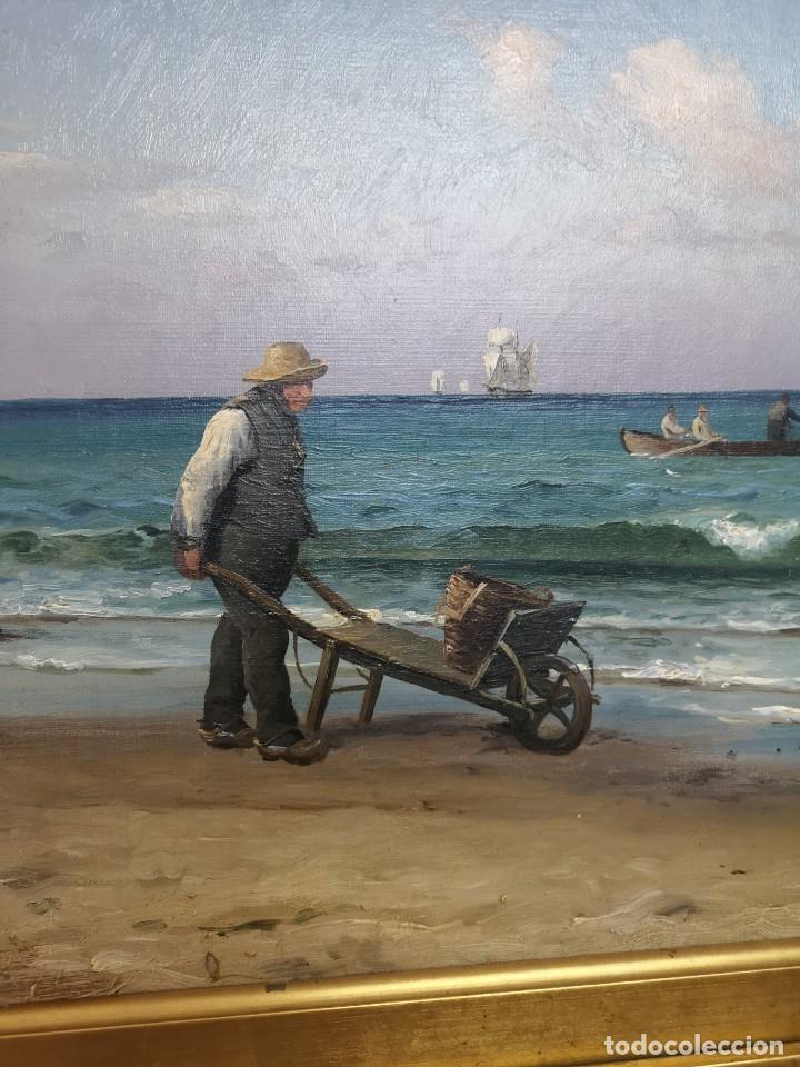 Arte: OLEO SOBRE LIENZO EN IMPRESIONANTE MARCO DE ÉPOCA FIRMADO HOLGER PETER SVANE LÜBBERS (1850-1931) - Foto 7 - 155330886