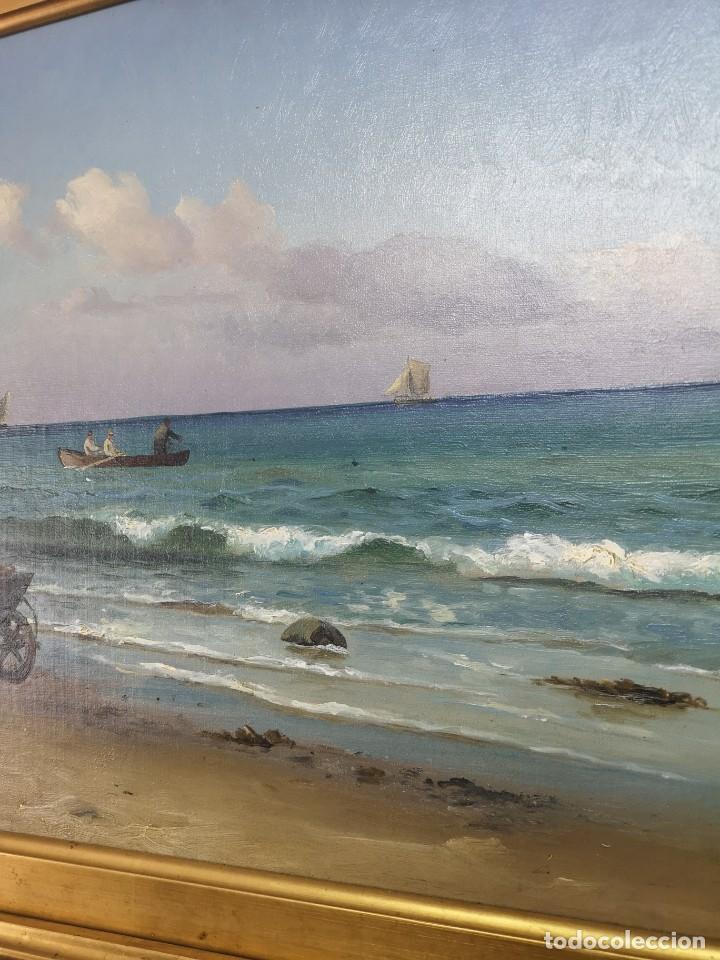 Arte: OLEO SOBRE LIENZO EN IMPRESIONANTE MARCO DE ÉPOCA FIRMADO HOLGER PETER SVANE LÜBBERS (1850-1931) - Foto 8 - 155330886