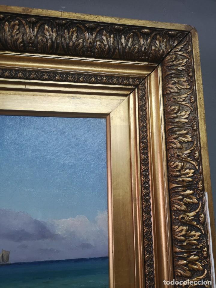 Arte: OLEO SOBRE LIENZO EN IMPRESIONANTE MARCO DE ÉPOCA FIRMADO HOLGER PETER SVANE LÜBBERS (1850-1931) - Foto 14 - 155330886