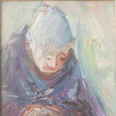 Arte: JOSEP CORES (LLEIDA, 1935) - GITANA.OLEO/TABLA.FIRMADO.. Lote 155361472