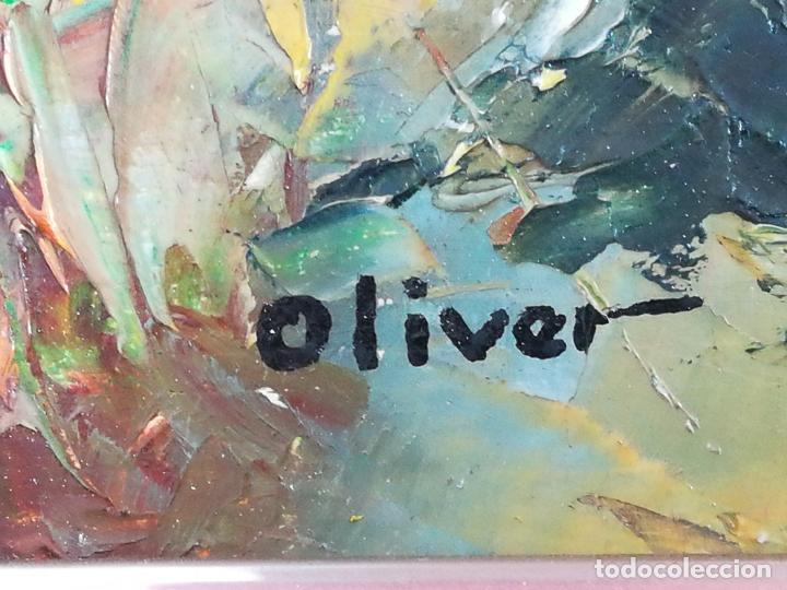 Arte: Óleo Paisaje sobre tabla, firmado Oliver (Francesc Oliver Fradera) - 23 x 18 cm - Foto 3 - 155363458