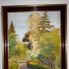 Arte: OLEO PAISAJE DEL PINTOR ADRADOS. 1956.. Lote 155367394