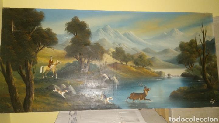 CACERIA INGLESA AL OLEO. (Arte - Pintura Directa del Autor)