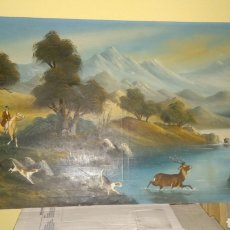Arte: CACERIA INGLESA AL OLEO.. Lote 155427357