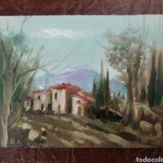 Arte: PEQUEÑO OLEO SOBRE TABLA.. Lote 155451810