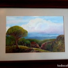 Arte: OLEO PAISAJE MEDITERRANEO MEDIADOS SIGLO XX. Lote 155503238
