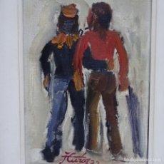 Arte: ÓLEO SOBRE TELA DE JORDI CUROS.PRIMERA ÉPOCA.1972. Lote 155520866