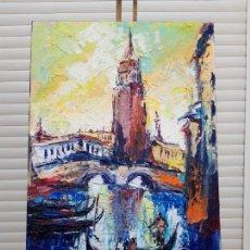 Arte: CUADRO AL OLEO SOBRE LIENZO ,,VENECIA''. Lote 155522370