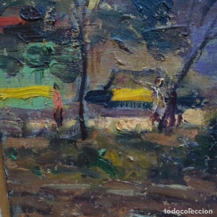 Arte: Gran Óleo sobre tela firmado amoros.escuela catalana de buen trazo. - Foto 4 - 155536482