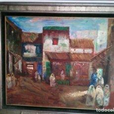 Arte: PLAZA ÁRABE. ÓLEO SOBRE CARTÓN. 100X81. JOSÉ CRUZ HERRERA. CERTIFICADO DE AUTENTICIDAD.. Lote 155543846