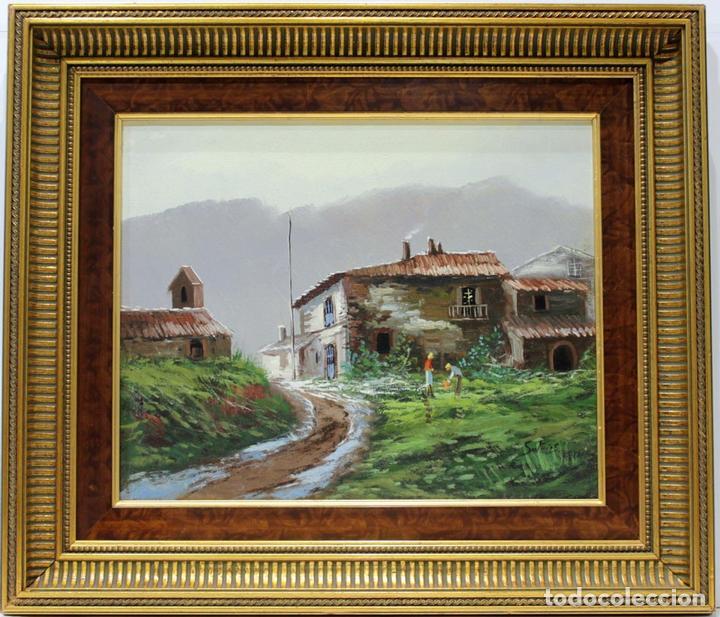 PAISAJE - ESCUELA HOLANDESA - OLEO SOBRE LIENZO - 59X51 CM (Arte - Pintura - Pintura al Óleo Contemporánea )
