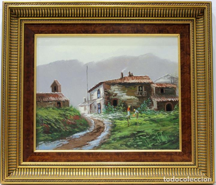 Arte: Paisaje - Escuela Holandesa - Oleo sobre lienzo - 59x51 cm - Foto 2 - 155551497