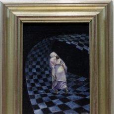 Arte: ESPALDA DE MUJER - ASCENSIÓN - OLEO SOBRE TABLA - 47X38 CM. Lote 155551509