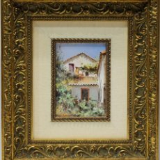 Arte: CASAS - ESCUELA HOLANDESA - OLEO SOBRE TABLA - 33X29 CM. Lote 155551533