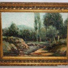 Arte: JOSEP BERGA BOADA (OLOT, 1872-1923) OLEO SOBRE TABLA FIRMADO Y FECHADO DEL AÑO 1898. Lote 155561482