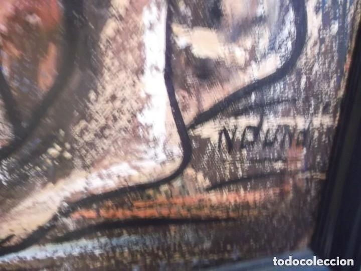 Arte: Antiguo cuadro pintura óleo moderno , tema mujeres de africa . original y firmado - Foto 2 - 155566390