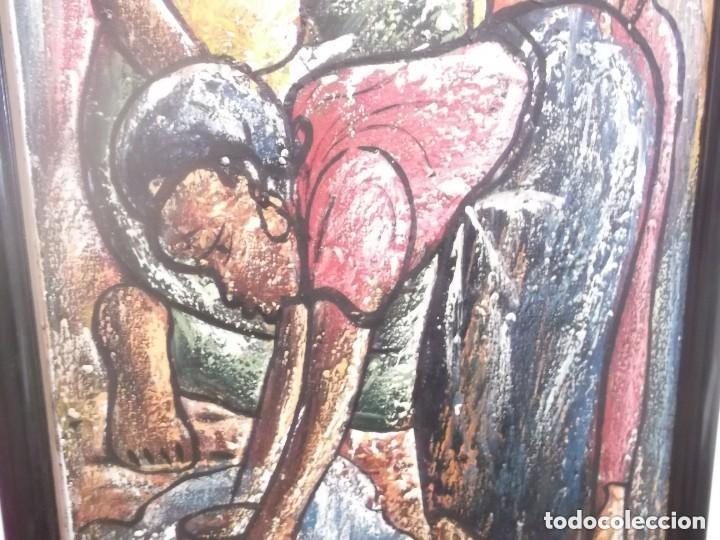 Arte: Antiguo cuadro pintura óleo moderno , tema mujeres de africa . original y firmado - Foto 4 - 155566390
