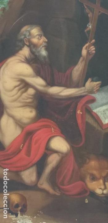 Arte: Oleo sobre lienzo Sg. XVIII San Marcos - Foto 2 - 155577494