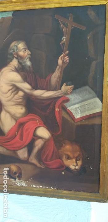 Arte: Oleo sobre lienzo Sg. XVIII San Marcos - Foto 3 - 155577494